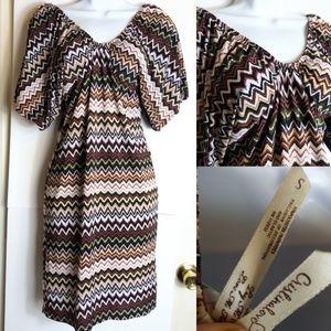 Cristina Love Chevron boho mini dress sz Sm